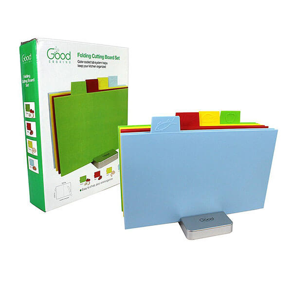 Rectangular Color Coded Cutting Board Set from Good Cooking