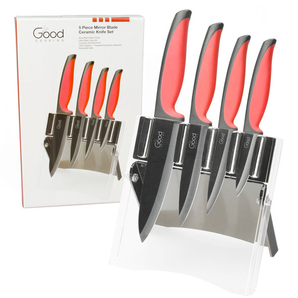 Good Cooking Ceramic Knife Set with Mirror Finish