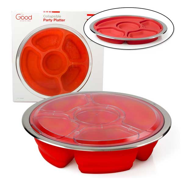 Good Cooking Collapsible Silicone Party Planner