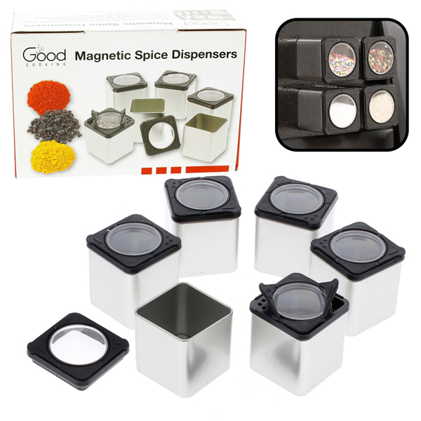 Good Cooking MAgnetic Spice Containers Set of 6