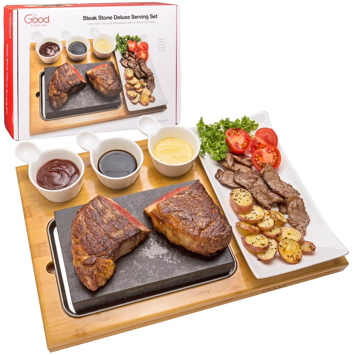 Steak Stone Deluxe Serving Set from Good Cooking