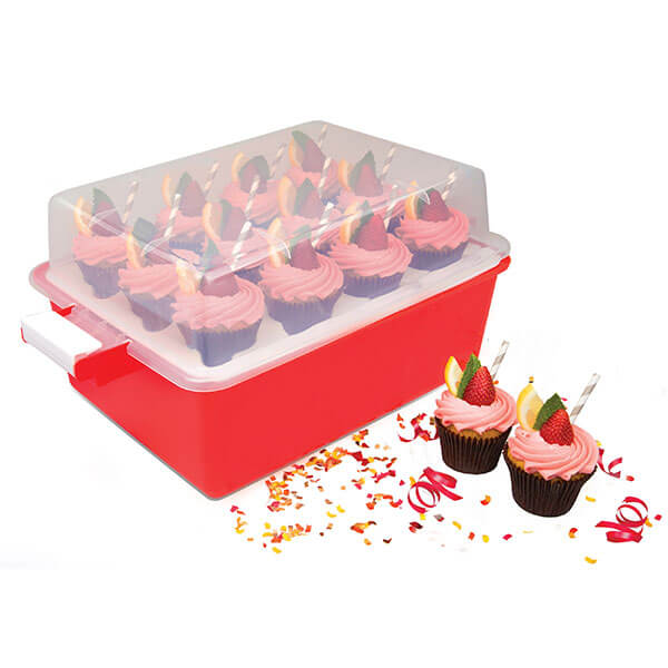 Collapsible Two-Tier Cupcake Carrier from Good Cooking
