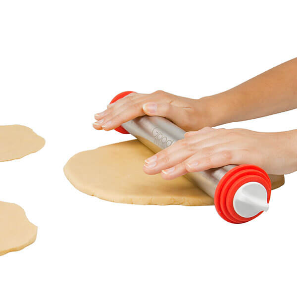 Stainless Steel Adjustable Rolling Pin from Good Cooking